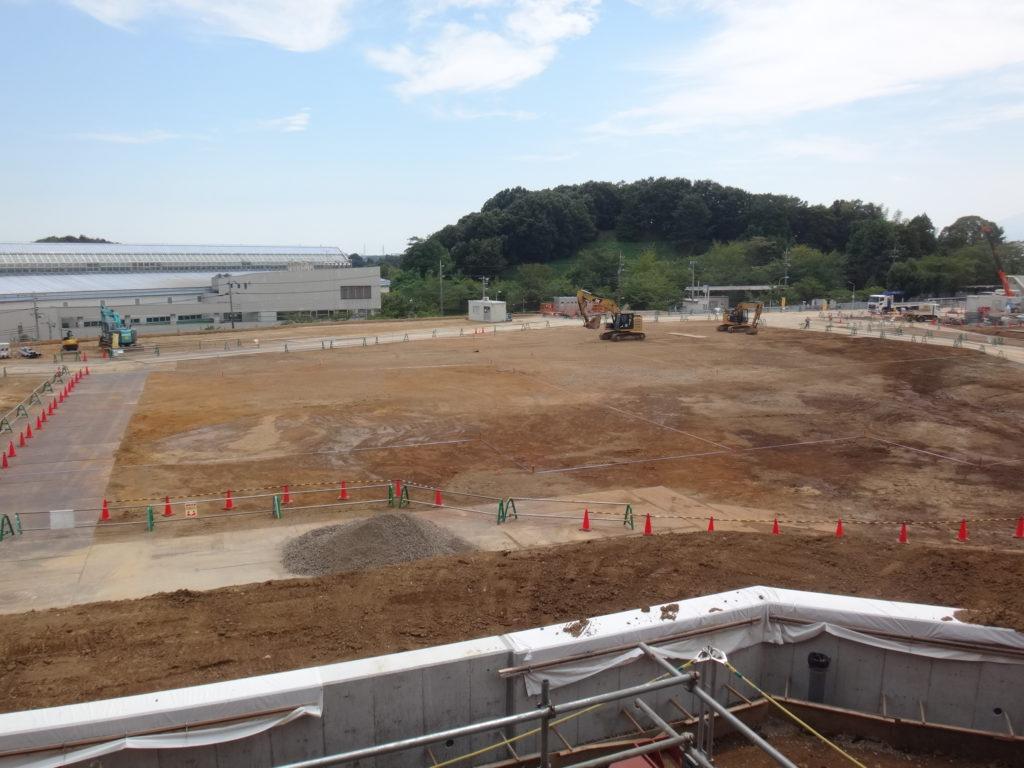 ④工場棟建築工事状況(8月中旬)