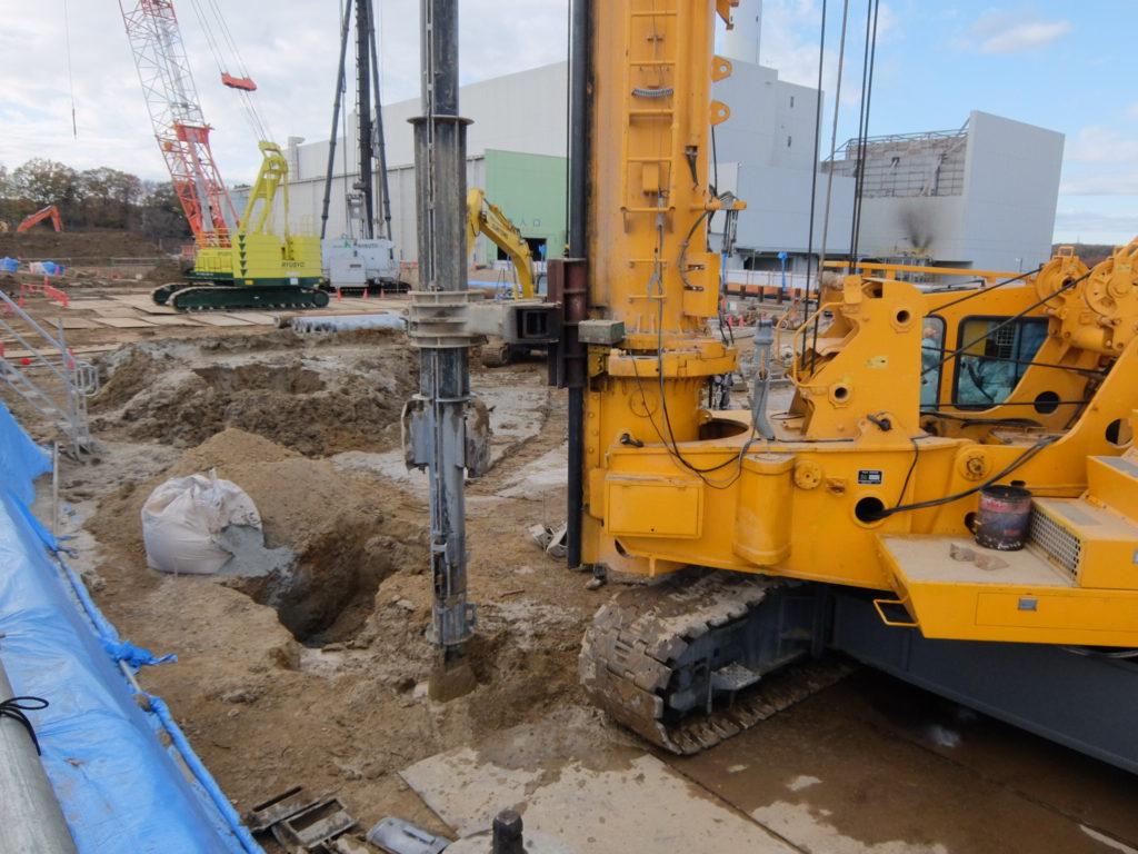 ①工場棟建築工事状況(12月上旬)