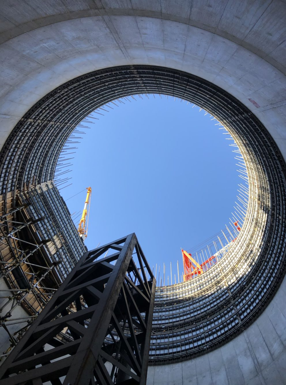 ④工場棟建築工事状況(11月下旬)